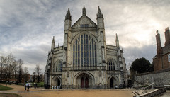 Winchester Cathedral (neilalderney123) Tags: cathedral olympus fisheye winchester fishie samyang 2016neilhoward