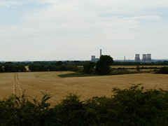 Corn And Coal (mdavidford) Tags: field gold industrial power towers farmland trail electricity crops soot parallel generation chimneys tramlines culham coolingtowers hyperbolic didcotpowerstation abingdonroad didcota