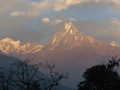 Machapuchare and Annapurnas from Tadopani (anjetika) Tags: one day machapuchare