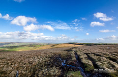 Calderdale (MichikoSmith) Tags: bridge blue sky west clouds landscape nikon angle outdoor yorkshire hill wide peak tokina pike hebden calderdale stoodley dodmorden
