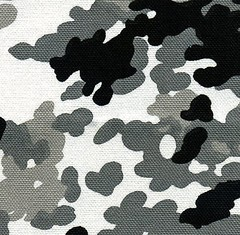 Clearance - Camouflage in Black and White Combo-Cotton Canvas - Half Yard Sale (ikoplus) Tags: white black fashion yard sale handmade sewing canvas fabric cotton camouflage half quarter clearance tote ikoplusfabric camoutflage combocotton
