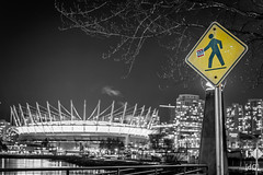 Vancity? Right this way please! (Daniel's Clicks) Tags: blackandwhite canada monochrome vancouver bc bcplace explorebc ilovebc vancitybuzz