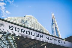 Borough Market (George Allard Photography) Tags: blue sky cloud london 35mm canon landscape market borough shard