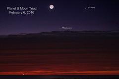 Planet & Moon Triad (purduebob) Tags: moon pier venus mercury crescent