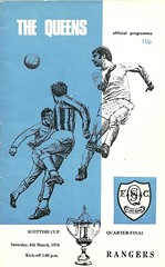 Queen of the South v Rangers 19760306 (tcbuzz) Tags: park cup club scotland football south scottish palmerston queen dumfries programme