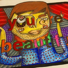 RODRIGO ONATE (billy craven) Tags: youarebeautiful streetartchicago stickergame galerief yabsticker