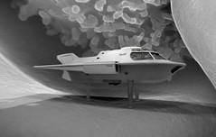 Proteus submarine  lymphocytes, telescopic legs (janitor35) Tags: voyage 3d fantastic artwork model anniversary sub submarine blender rendering proteus uboot u91035