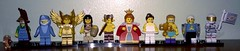 Series 15 Minifigures (josh.soudry) Tags: woman guy shark flying ballerina lego wrestling champion 15 astronaut tribal queen suit warrior series farmer clumsy faun minifigures