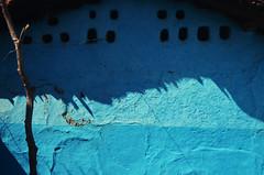Modest ingenuity. (Gattam Pattam) Tags: blue light sun india house wall architecture mud shade cob jali chhattisgarh
