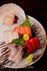 DSC_3925 (Chris & Christine (broughtup2share.com)) Tags: road old mushroom beer japan japanese sashimi salmon snail seafood kirin scallop unagi klang tamago wagyu ishin