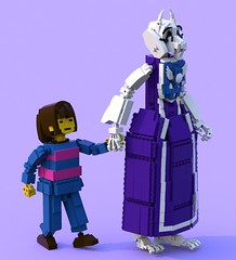 Frisk 3 (pb0012) Tags: game monster video lego character goat human indie videogame frisk ldd goatmom indiegame toriel undertale torielundertale friskundertale