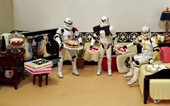 Recycled Love on the Death Star (ChicaD58) Tags: plant lamp cake cakestand pie actionfigure tv bed pillow pizza donuts stormtrooper cooler coffeemug movienight stb endtable clonetrooper colas cookietin starwarsactionfigure glassofmilk valentinescard cofeemaker tk432 tk1110 hiddenhighheelshoe comemorativeminidarthbottleofscotch dscf2522d recyclingnextbestthingtoregifting