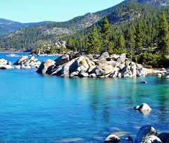Sand Harbor Morning, Lake Tahoe, NV 9-10 (inkknife_2000 (6 million views +)) Tags: usa forest landscape nevada laketahoe boulders alpinelake mountainlake sandharbor rocksinwater aquamarinewater lakeshoreline dgrahamphoto boulderpiles