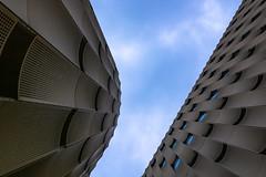 golden (Karl-Heinz Bitter) Tags: sky urban netherlands architecture utrecht pattern himmel architektur blau niederlande papendorp parkdeck strukturen decope khbitter