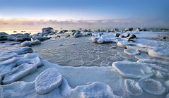 Frozen After A Freezing Night (tinamar789) Tags: ice cold frost freezing sea seashore seascape snow winter water landscape lauttasaari ~themagicofcolours~x