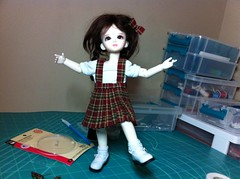 Standing on one foot! (mollym_22) Tags: bjd francie yiyi dolllove yosd dollloveyiyi