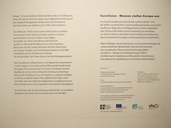 """""""About having to leave … and arriving"""". Opening of the EuroVision Lab. exhibition at the Stadtmuseum Kaufbeuren/Germany on 17th March 2016. • <a style=""""font-size:0.8em;"""" href=""""http://www.flickr.com/photos/109442170@N03/25395055544/"""" target=""""_blank"""">View on Flickr</a>"""