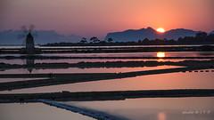 Saline di Mozia (Irene TP) Tags: sunset red italy sun reflections nikon italia tramonto sicily nikkor saline sicilia mozia d7100 nikond7100