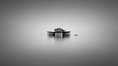 Isolation (vulture labs) Tags: longexposure blackandwhite bw seascape monochrome photography mono pier fineart monochromatic minimal minimalist bwlongexposure vulturelabs