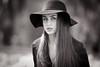 Anamaria (mugensx) Tags: portrait white black girl hat zeiss bokeh sony alpha dslr 135mm a900 13518