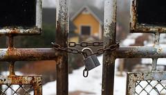 Locked Gate (Simon Varisto) Tags: house rust gate lock chain
