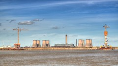 Mersey Gateway and Fiddlers Ferry Power Station (Explored 26/03/16) (Jeffpmcdonald) Tags: uk bridge cheshire powerstation runcorn widnes fiddlersferry rivermersey merseygateway nikond7000 jeffpmcdonald march2017
