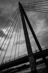 bridge silhouettes (tabulator_1) Tags: silhouette southport marinelake marinewaybridge