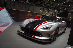 Track ready (Iceman_Mark) Tags: red black club grey geneva geneve american dodge salon viper v10 sportscar motorshow racer naturally 2016 aspirated 84litre