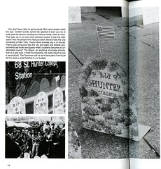 Leaving Our Mark (Hunter College Archives) Tags: students events yearbook social event hunter 1995 subwaystation gravestones lexingtonave activities huntercollege socialevents 68thst studentactivities wistarion studentlifestyles thewistarion