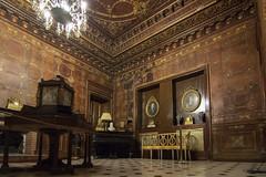 """Palermo: """"Stanza del fumo"""" a Palazzo Alliata/Villafranca (Luciano ROMEO) Tags: sale palermo soffitto cuoio lampadari arredi palazzoalliatavillafranca stanzadelfumo"""