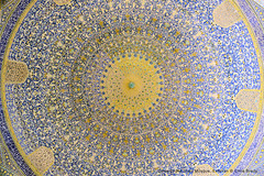 Dome of the Shah Mosque, Esfahan (Chris Brady 737) Tags: iran mosque dome esfahan isfahan shah