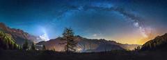 [matterhorn 150] (Ennio Pozzetti) Tags: nightphotography blue italy orange night stars landscape lights nikon italia nightscape anniversary matterhorn stelle milkyway cervino d810 vialattea enniopozzetti matterhorn150 cervino150