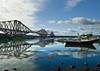 NORTH QUEENSFERRY (GRAEME BUCHAN) Tags: boats scotland forthbridge riverforth northqueensferry railbridge waterreflections nikond80 top20bridges