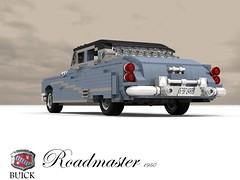 Buick 1950 Roadmaster Saloon (lego911) Tags: auto usa classic car america sedan buick model gm lego general render harley motors chrome 1950s earl saloon luxury 1950 cad povray roadmaster moc ldd miniland lego911