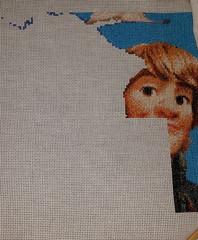 3/4 of Kristoff and an Antler (diedintragedy) Tags: art frozen crossstitch sewing craft disney stitching sven stiches kristoff frozencrossstitch crossstitchproject crossstitchprogress