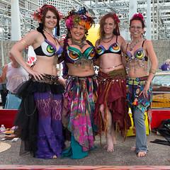 The Tribal Lilies (Ron Scubadiver's Wild Life) Tags: street woman art girl car nikon texas 28mm houston dancer parade belly