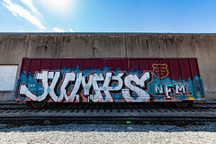 (o texano) Tags: bench graffiti texas houston trains jumps freights wholecar stk nfm benching