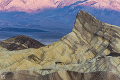 Sunrise at Zabriskie Point (lycheng99) Tags: park shadow brown sun nature yellow rock sunrise wonder landscape nationalpark rocks pattern peak valley deathvalley zabriskie zabriskiepoint striation rockformation deathvalleynationalpark 2016deathvalley