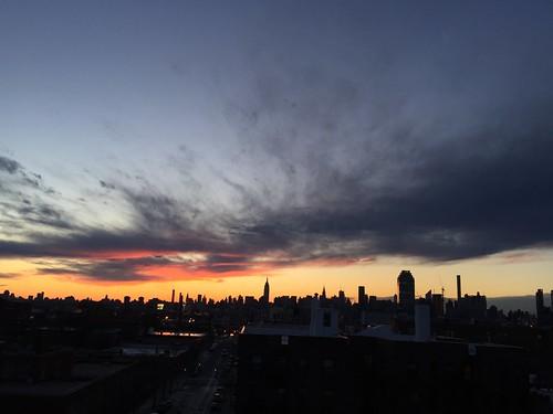 Dramatic sunset over Gotham!!