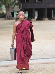 Salay Monk (GillWilson) Tags: myanmar buddhistmonk salay