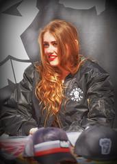 Red.. (Harleynik Rides Again.) Tags: red girl hair ginger glamour lips redhead redlips salisbury mag burnoutbikes harleynikridesagain