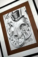 """Llego tarde..."" (SantoUno) Tags: alicia conejo canvas uno draw dibujo santo cuadro santouno"