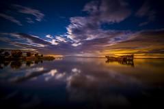 Motueka shipwreck (ourkind) Tags: longexposure newzealand clouds zeiss canon reflections stars nightscape shipwreck motueka