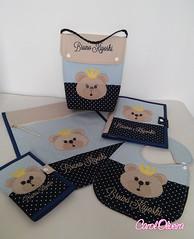 Kit infantil (Carol Oliveira Atelier) Tags: infantil coruja toalha kit homem leo bailarina urso aranha necessaire babador vacinas fraldas caderneta