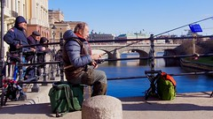 Stockholm fishermen (Steve Burgess1) Tags: bridge fishing fishermen sweden stockholm