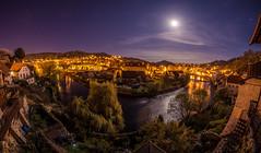 The moon will take care of us (redsk82) Tags: moon night river stars landscape star nightscape czech fisheye czechrepublic ceskykrumlov moonscape eskkrumlov
