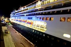 Big Cruise Ship (AdityaNanda) Tags: cruise holland night boat rotterdam ship cruiseship fujifilm surabaya bigship msrotterdam hollandship