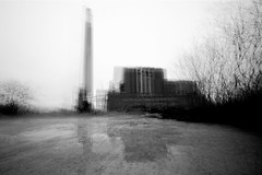sketches.of.a.power.station (jonathancastellino) Tags: leica trees toronto abstract reflection tree abandoned composite architecture puddle ruins decay ruin stack m series derelict hearn interferencepatterns