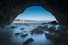 Natures Window on the World... -Explored April 2016 (Justin Cameron) Tags: longexposure sea seascape water coast rocks coastline cave seaham countydurham ndfilter neutraldensity canon24105mmf4l chemicalbeach canon5dmkiii leegraduatedfilter leelittlestopper