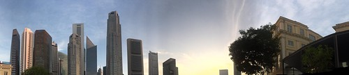 Sunset from Empress Place